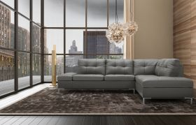 Colon Premium Sectional Sofa with Storage in Grey