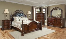 Leonia Traditional Bedroom Set in Brown