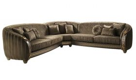 Liberty Contemporary Corner Sofa in Gold & Brown