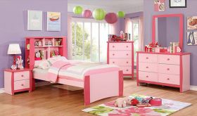 Lima Youth Transitional Bedroom Set in Pink