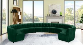 Juan Modular Velvet Sectional Sofa in Green