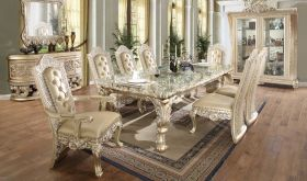 Lindgren Traditional Dining Room Set in Gold & Belle Silver