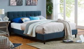 Linnea Modern Bed in Azure