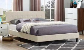 Linnea Modern Bed in Beige