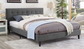 Linnea Modern Bed in Gray