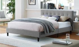 Linnea Modern Bed in Light Gray
