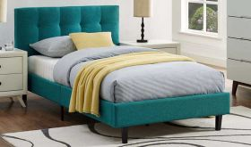 Linnea Modern Bed in Teal