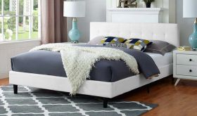Linnea Modern Fabric Bed in White