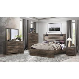 Linwood Bedroom Set in Dark Oak