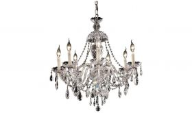 Lorraine Traditional 7 Lights Hanging Fixture Chandelier in Chrome Finish