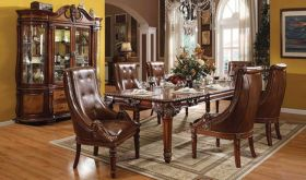 Lowa Traditional Dining Room Set in Cherry
