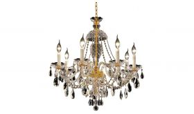 Lowville Traditional 7 Lights Hanging Fixture Chandelier in Gold Finish