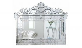 Luton Transitional Wall Mirror in Silver Frame with Clear