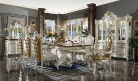Posada Traditional Dining Room Set in Antique Pearl