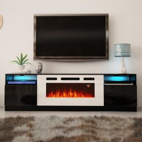 "Maine Modern Electric Fireplace 79"" TV Stand"