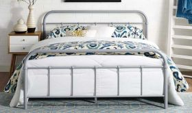 Maisie Stainless Steel Bed Frame in Gray