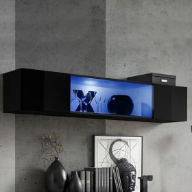 Malibu Wall Mounted Floating Hanging Media Cabinet