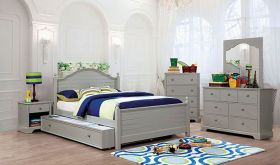 Marion Youth Transitional Bedroom Set in Gray