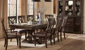 Matlock II Traditional Dining Room Set in Driftwood Charcoal