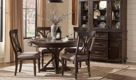 Matlock Traditional Dining Room Set in Driftwood Charcoal