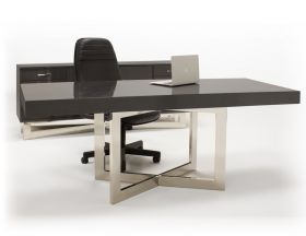 Casper Modern Office Desk Set in Gray Oak