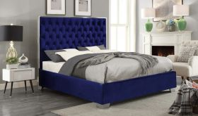 Meridian Lexi Bed in Navy Velvet