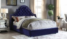 Meridian Madison Upholstered Platform Bed in Navy