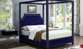 Meridian Rowan Velvet Bed in Navy