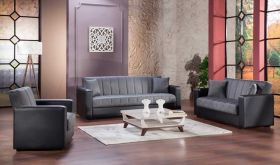 Merrick Convertible Living Room Set in Bolzoni Gray