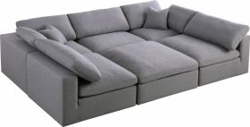 Bethnal Contemporary Modular Sectional Sofa in Grey