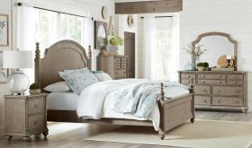 Milford Traditional Bedroom Set in Driftwood Gray