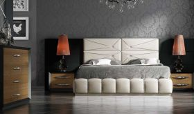 Millburn Modern Bedroom Set in Beige & Gray