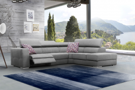 Mistral Modern Sectional Sofa with 2 Electric Recliner in Grey