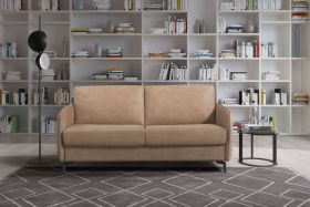Boonville Fabric Sofa Bed in Brutus Camel