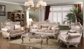 Mobile Traditional Living Room Set in Beige