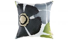 Modern Outdoor Patio Single Pillow in Botanical