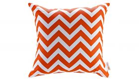 Modern Outdoor Patio Single Pillow in Chevron