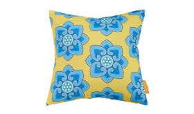 Modern Outdoor Patio Single Pillow in Cornflower