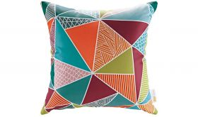Modern Outdoor Patio Single Pillow in Mosaic