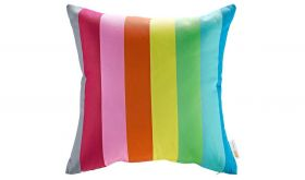 Modern Outdoor Patio Single Pillow in Rainbow