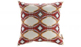 Modern Outdoor Patio Single Pillow in Repeat