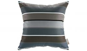 Modern Outdoor Patio Single Pillow in Stripe