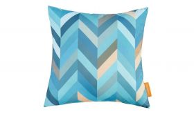 Modern Outdoor Patio Single Pillow in Wave