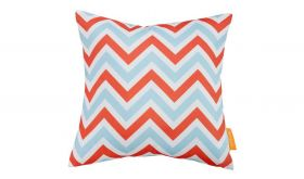 Modern Outdoor Patio Single Pillow in Zig-Zag