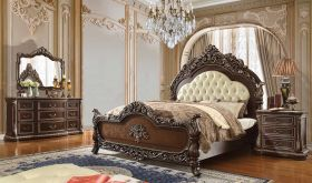 Mohave Traditional Bedroom Set in Brown Cherry