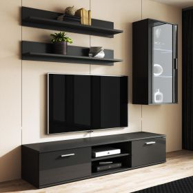 Monte Modern Wall Unit Entertainment Center