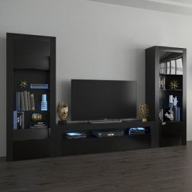 Montgomery Modern Wall Unit Entertainment Center