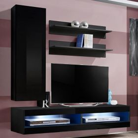 More Wall Mounted Floating Modern Entertainment Center (Size H1)