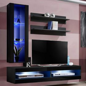 More Wall Mounted Floating Modern Entertainment Center (Size H2)