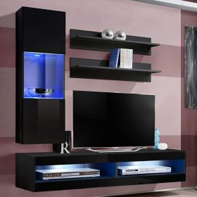 More Wall Mounted Floating Modern Entertainment Center (Size H3)